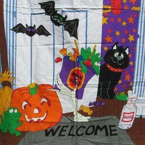 Other - Halloween Sewing Fabric Welcome Door Panel Cover
